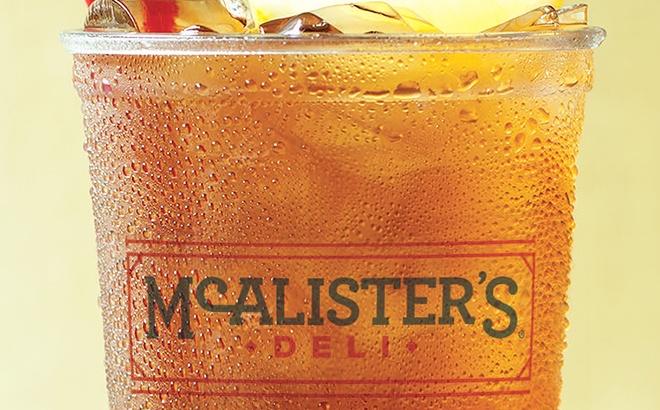FREE Tea at McAlister's Deli!