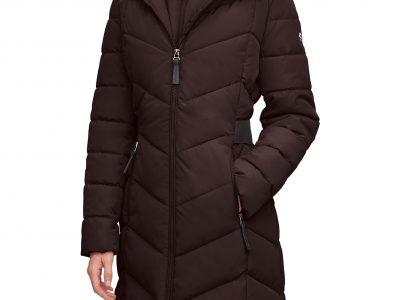 Macy's: Calvin Klein Faux-Fur-Trim-Hooded Puffer Coat For $110.00 Reg.$275.00