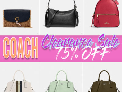 Coach: Almost Gone Fashion Bags, Clearance Sale, 75% off! Limited Time