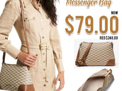 Michael Kors: Crosby Medium Logo Messenger Bag, Just $79.00 (Reg $248.00)