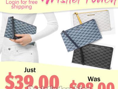 Michael Kors: Large Wristlet Pouch, Just $39.00 (Reg $98.00)