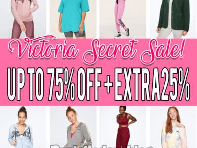 Victoria Secret: Fashion and Sportswear, Up to 75% off + extra 25% off!