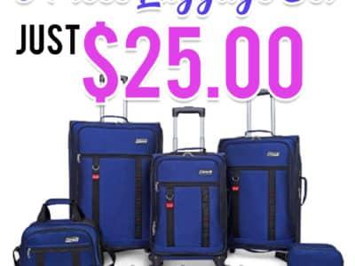 Walmart: Coleman Utility 5 Piece Spinner Luggage Set, Just $25.00 (Reg $99.00)