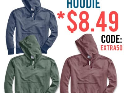 Champion: Heritage Heather YC Hoodie, Embroidered Logo, Just $8.49 (Reg $55.00) after code!
