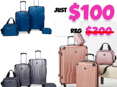 Macy's: Legacy 4-Pc. Luggage Set, Just $100 (Reg $300.00)