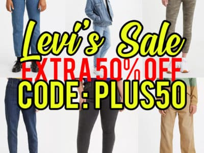 Levi's: Jeans, Apparels, Sports wear for Family, 50% off! After code!